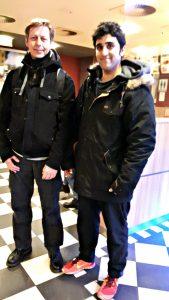 Nassem Raufi (r) und ich